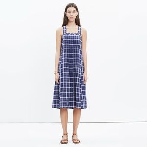 Madewell Plaid Drive-In Dress